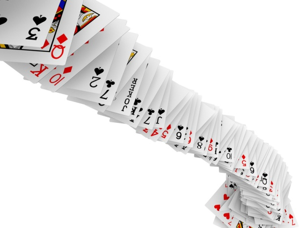 la vie est un jeu de cartes, elles sont distribuées au hasard au départ mais à vous d'y jouer !